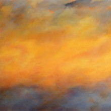 "View ""atmosphere (sunrise) no. 1,  acrylic on canvas,  24x30 inches,  2011-12"""