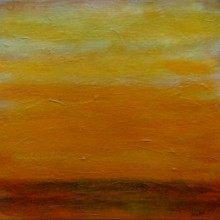 "View ""sunrise no. 42,  mixed media on paper,  6x6 inches,  2011"""