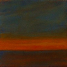 "View ""twp # 21 early hours,  acrylic on canvas,  6x6 inches, 2011-12"""