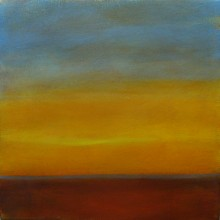 "View ""sunrise 2.5,  acrylic on canvas,  12x12 inches, 2011"""