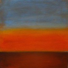 "View ""sunrise 3.5,  acrylic on canvas,  12x12 inches, 2011"""