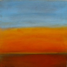 "View ""sunrise 4.5,  acrylic on canvas,  12x12 inches, 2011"""