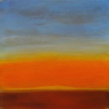 "View ""sunrise 5.5,  acrylic on canvas,  12x12 inches, 2011"""