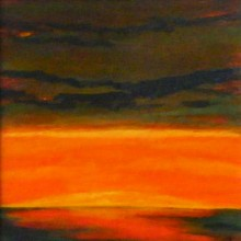 "View ""sunrise no. 59,  mixed media on paper,  6x6 inches,  2011"""
