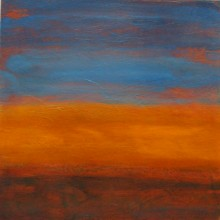 "View ""sunrise no. 44,  mixed media on paper,  6x6 inches,  2011"""